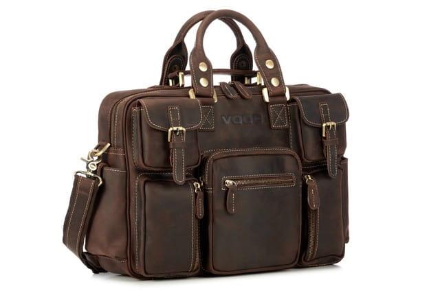 Biznesowa torba na laptop XC1 chocolate dark
