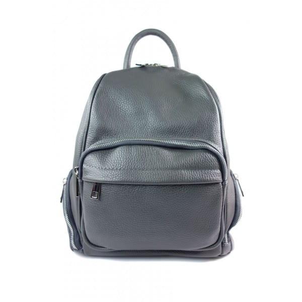 Elegancki poręczny plecak Vera Pelle Szary VP344G
