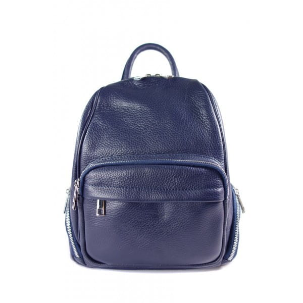 Elegancki poręczny plecak Vera Pelle Granatowy VP344BS