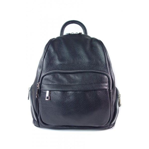 Elegancki poręczny plecak Vera Pelle Czarny VP344N