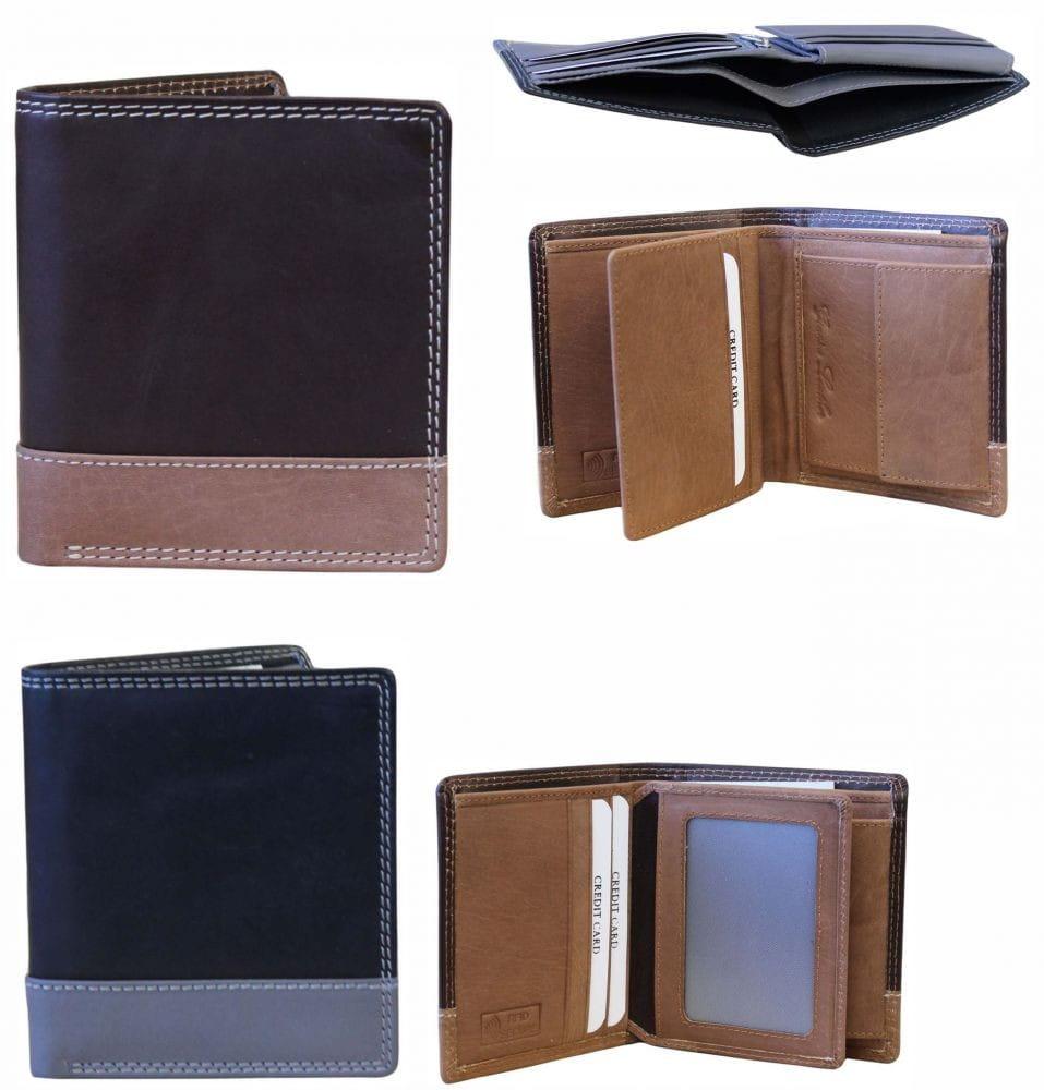 Elegancki portfel męski skóra naturalna RFID NC37 MNC