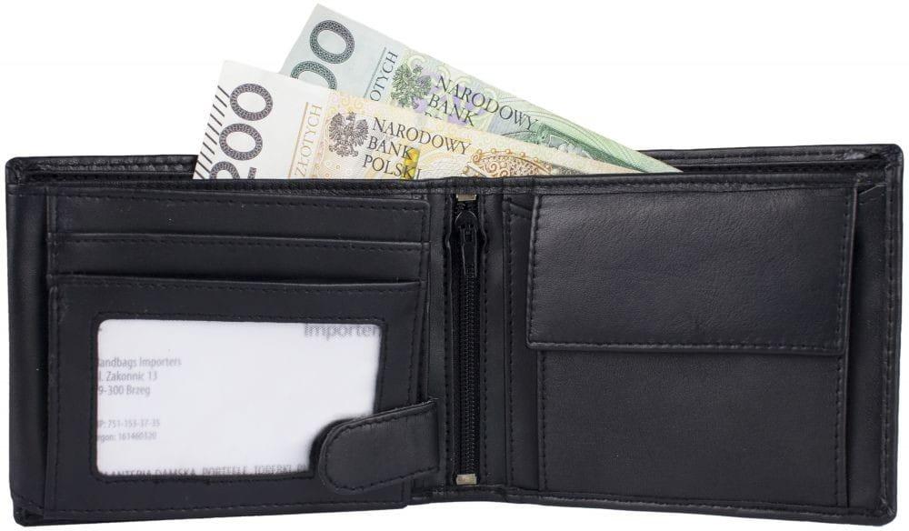 Elegancki portfel męski skóra naturalna RFID JCB53