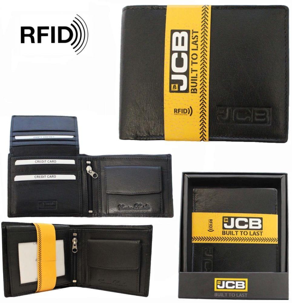 Elegancki portfel męski skórzany RFID JCB51