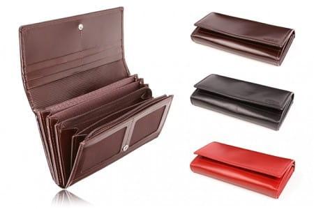 Duży skórzany portfel damski PPD5