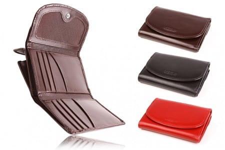 Elegancki portfel damski ze skóry PPD9
